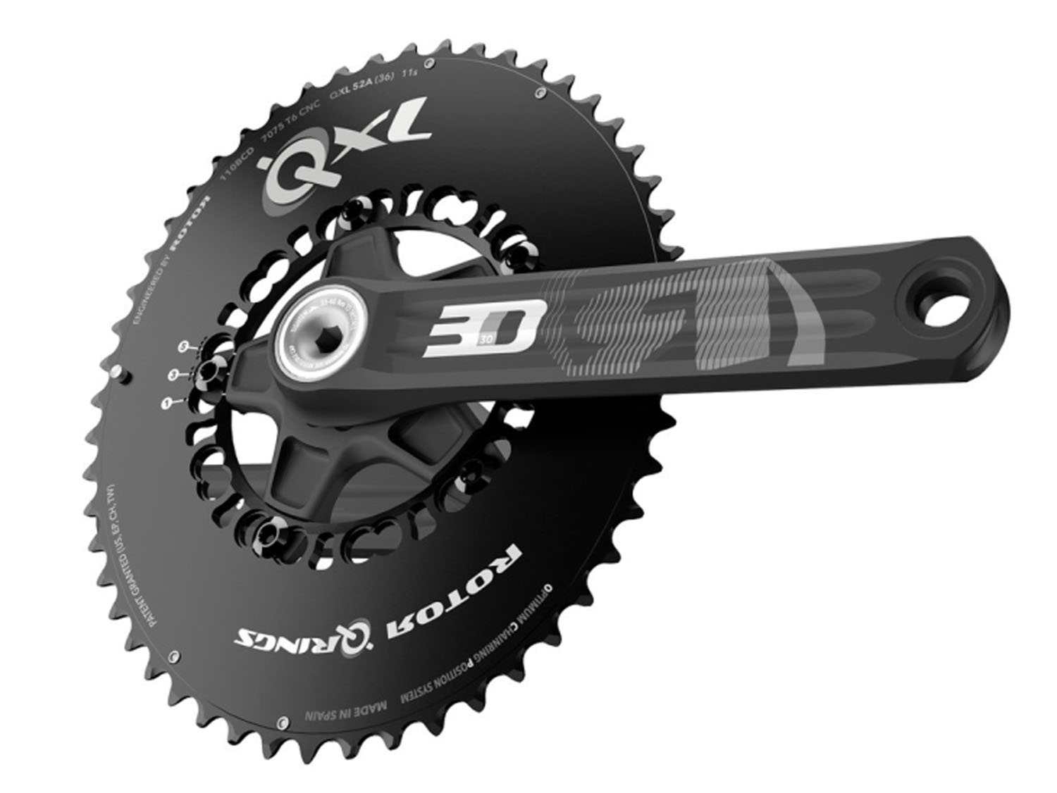 Mountain Bike Crankset >> Rotor 3DF / 3D30 Compact Road cranks (£269) & Rotor NoQ Round chainrings Pro-Compact 110mm BCD ...