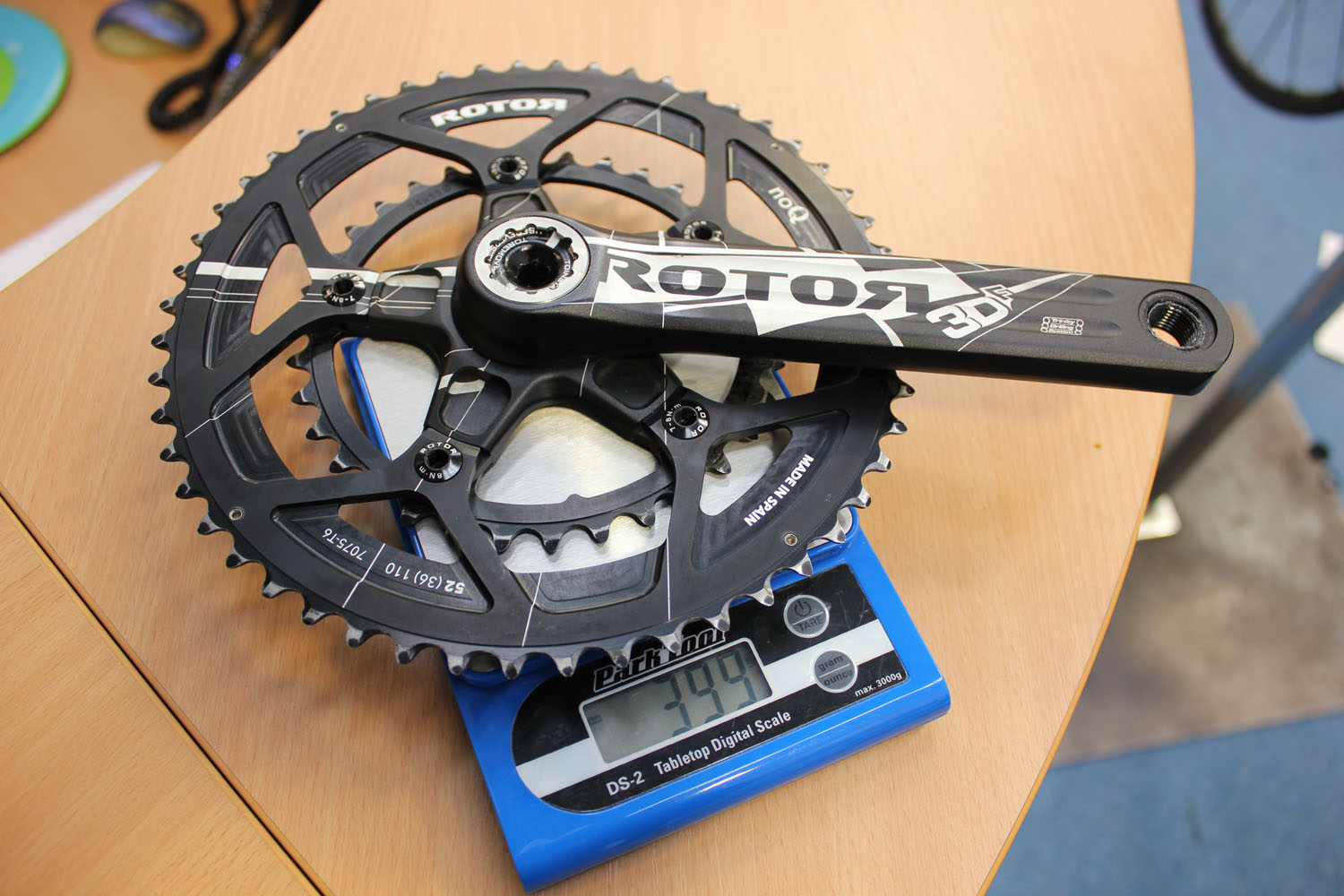 Rotor 3DF / 3D30 Compact Road cranks (£269) & Rotor NoQ Round chainrings Pro-Compact 110mm BCD ...