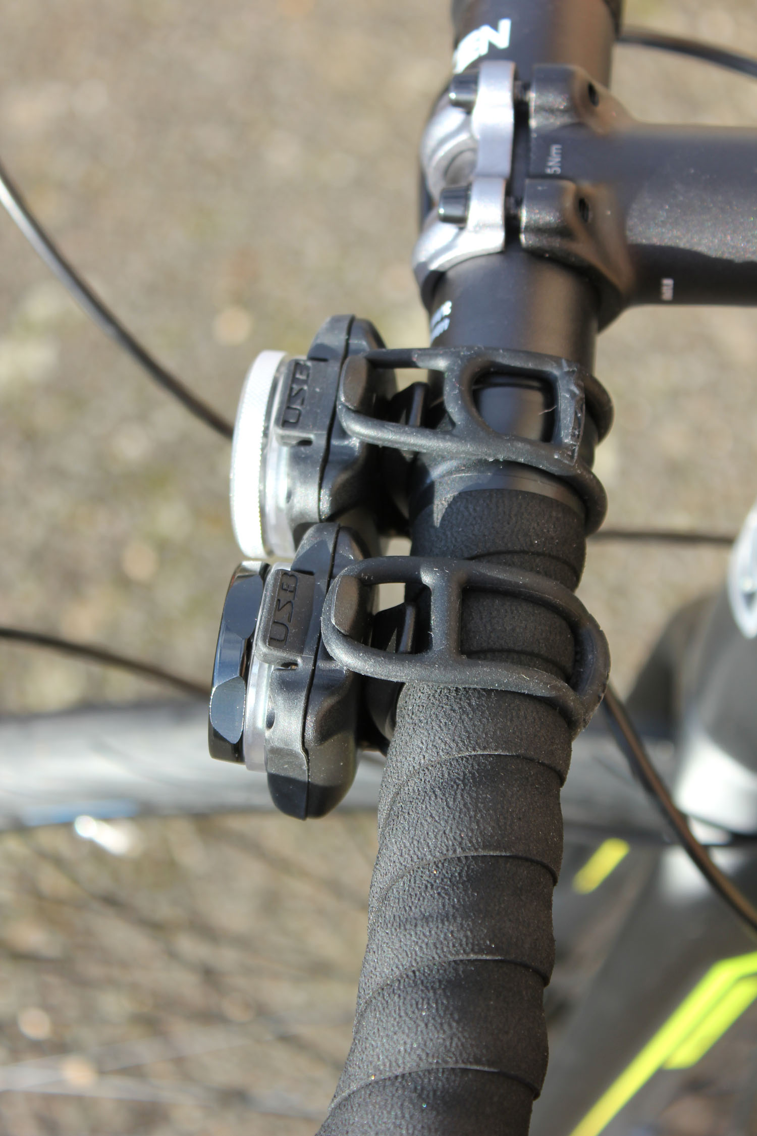 Black Front and Rear Lezyne Cycling Zecto Drive Light Set